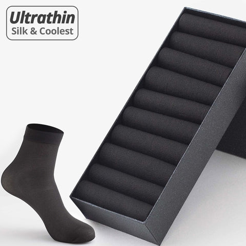 10 Pairs Business Casual Thin Socks Breathable