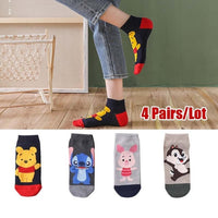 5 Pairs/Lot Cartoon Cotton invisible