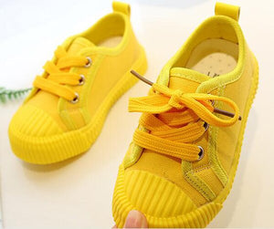 Canvas Shoes Lace-up Bright Yellow