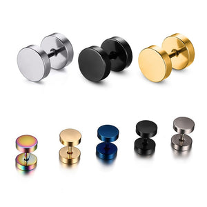 Stainless Steel Barbell Stud Earring