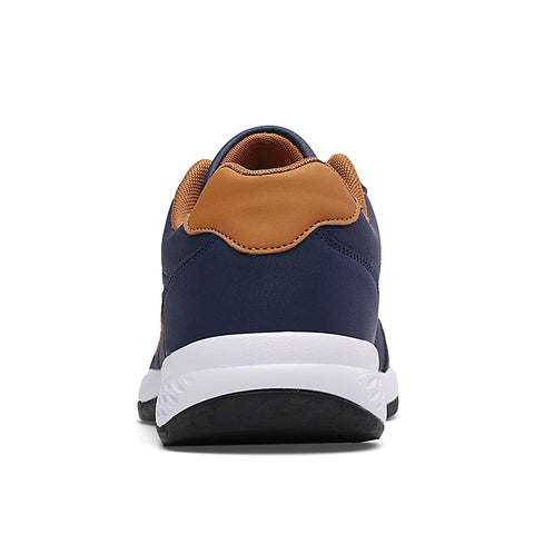 Blue Leather Men Shoes