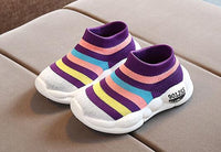 Baby Tennis Shoes Mesh Stripes