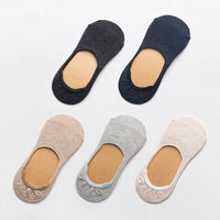 10 pieces = 5 pairs women socks Solid color invisible