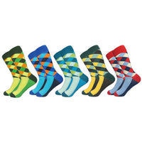 Casual Men Socks fashion design Plaid
