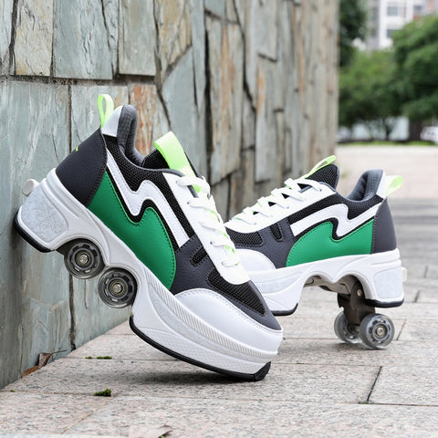 Double Row Double-Wheel Roller Skate Shoes