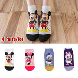 10 pieces = 5 pairs Cartoon Socks  Invisible