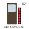 Buffalo Check Welcome Sign Sign nativerange