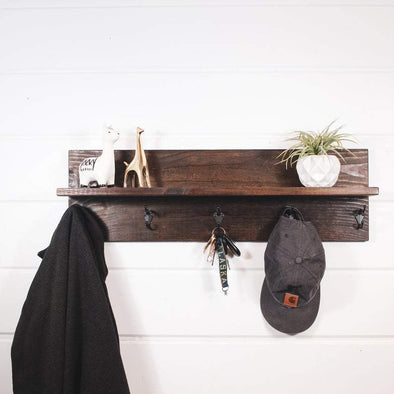 Coat Rack with Shelf Organizer Native Range