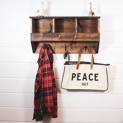 Cubby Coat Rack Organization Native Range