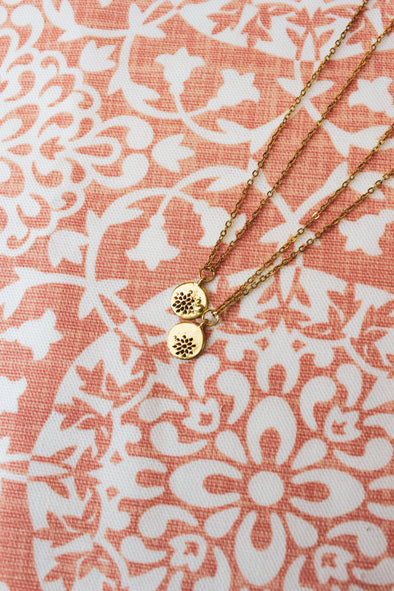 Delicate Floral Cutout Necklace - Native Range