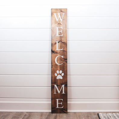 Dog Paw Symbol Welcome Sign Sign nativerange