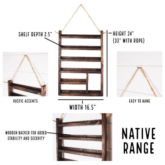 Wood Essential Oil Shelf - Native Range