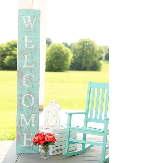 Farmhouse Teal Welcome Sign - Native Range
