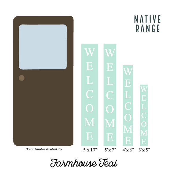 Farmhouse Teal Welcome Sign Welcome Sign nativerange