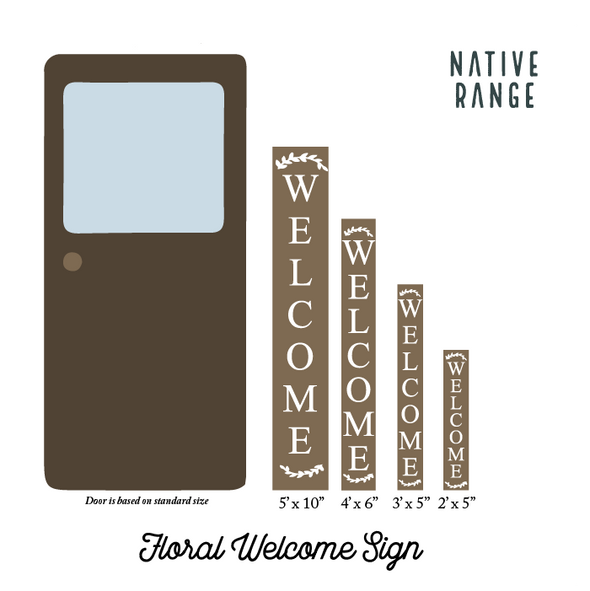 Floral Welcome Sign Welcome Sign nativerange