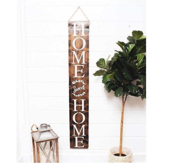 Hanging Wood Welcome Sign - Native Range