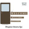 Horizontal Welcome Sign Sign Native Range