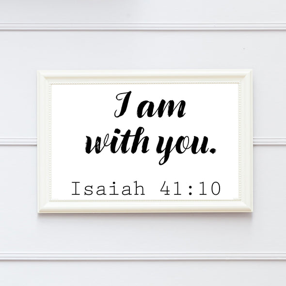 I Am With You Print - Native Range
