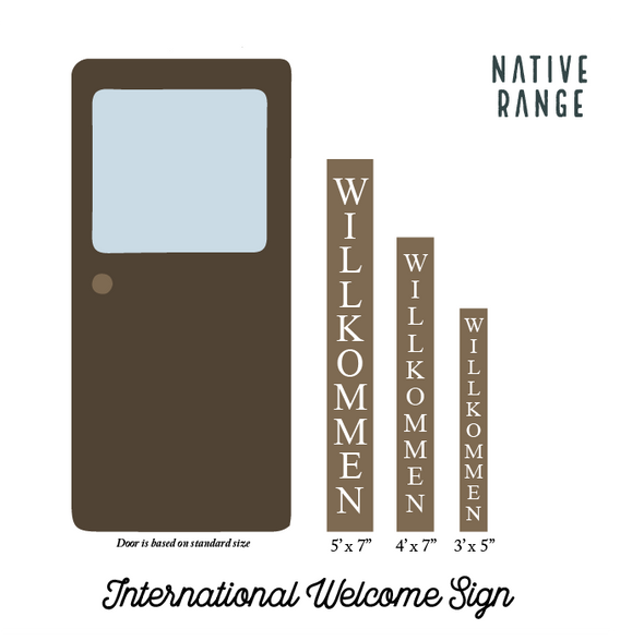 International Welcome Sign Welcome Sign Native Range