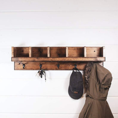 Rustic Cubby Shelf Organization nativerange