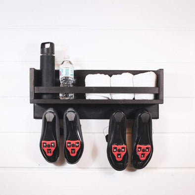 Spin bike shelf, spin shelf, bike shoe shelf, shoe shelf, floating shelf, peloton shelf