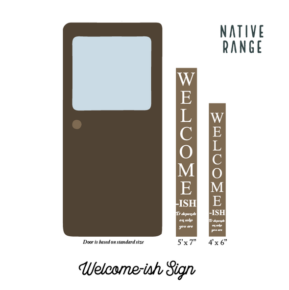 Welcome-ish Welcome Sign (Print) Sign nativerange
