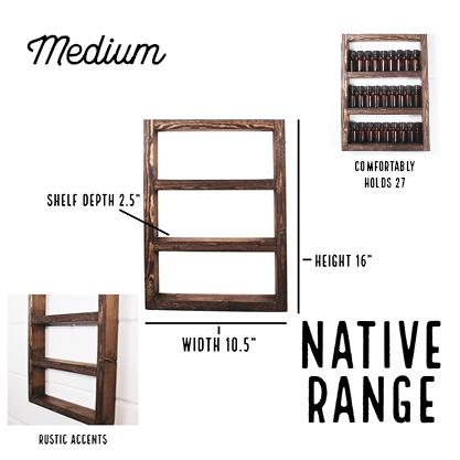 Wood Essential Oil Shelf (No Rope) - Native Range