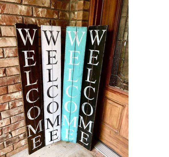 Wood Plank Welcome Sign - Native Range
