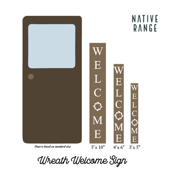 Wreath Welcome Sign Welcome Sign nativerange