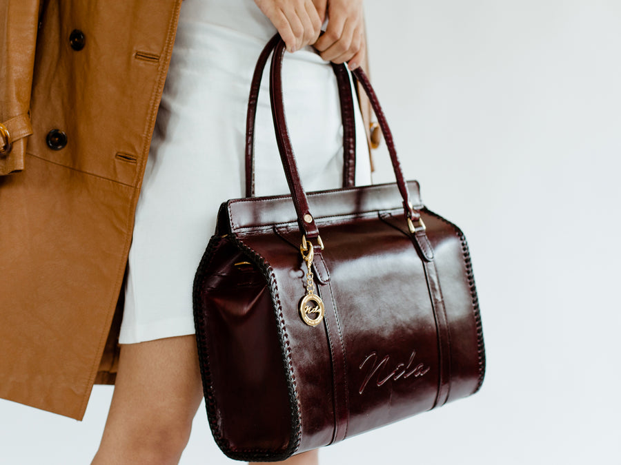 Nila Doctor-Style Satchel, With Zipper