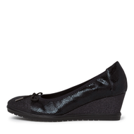 Tamaris Black Wedged Loafer Shoe 22461-25 098