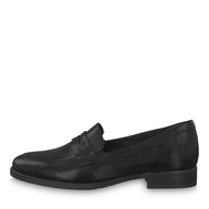 Tamaris Black Leather Loafer Shoe 24215-23 001