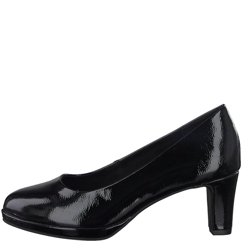Marco Tozzi Black Patent Court Shoe 22412-35 018