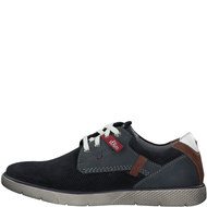 S.Oliver Mens Navy Leather Casual Trainer 13600-24