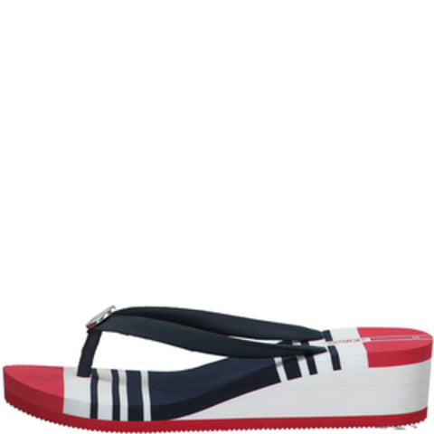S.Oliver Ladies Navy/White/Red Wedged Toe-Post 27205-34 805