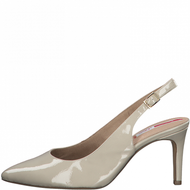 S.Oliver Ladies Nude Patent Sling Back Heeled Shoe 29601-26 133