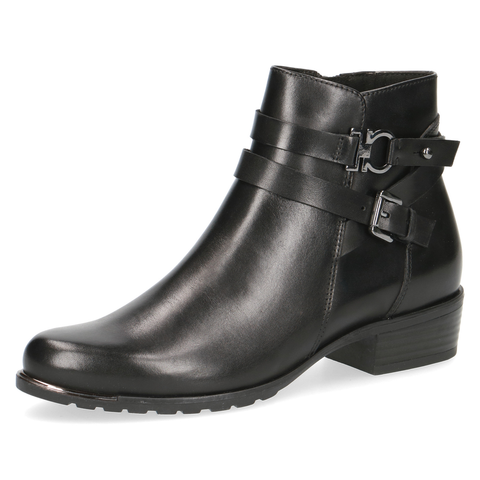 Caprice Black Nappa Heeled Ankle Boot 25309-25 022