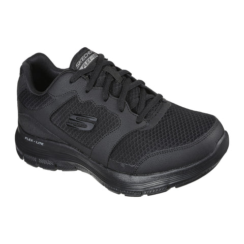 Skechers Mens Black Flex Advantage Memory Foam Trainers 232225