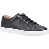 Hush Puppies Ladies Black Leather Trainer TESSA