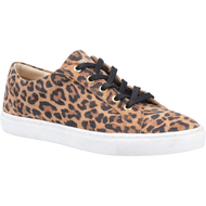 Hush Puppies Ladies Leopard Print Trainer TESSA