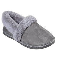 Skechers Ladies Memory Foam Slippers Charcoal 32777