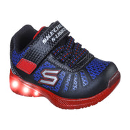 Skechers Kids Lights Velcro Trainer Black/Red/Blue 401520N/BKRB