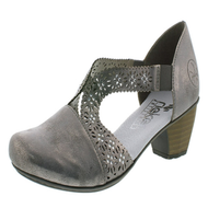 Rieker Grey Diamond Stud Detail Slip On Shoe 41750-40
