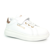 Levis Kids Velcro Trainer ELLIS MINI White/Gold/Pink