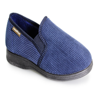Goodyear Mens Navy Memory Foam Slippers HUMBER