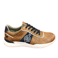 Mustang Mens Tan Casual Laced Trainer 4138-307-307