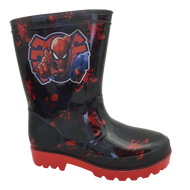 Kids Spiderman Wellies Navy/Red