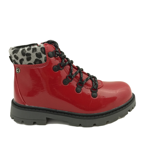 Cipriata Girls Red Patent Boots