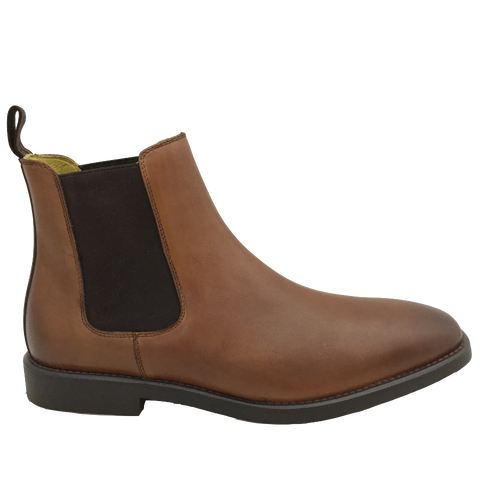 Steptronic Mens Tan Leather Pull-On Boot Mayfair