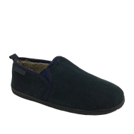 Hush Puppies Mens Warm Lined Navy Slippers ARNOLD